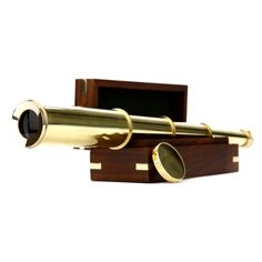 Brass Telescope 일안망원경 우드세트의 상품 이미지