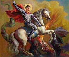 Saint George And The Dragon Painting  - Saint George And The Dragon Fine Art Print
