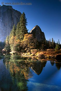 river-mtn-trees.jpg california, images, mountains, reflections, rivers, trees, vertical, water, west coast, western usa, yosemite