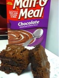 Just Winging It: Chocolate Malt-O-Meal Brownies Ic Recipes, Low Calorie Recipes, Brownie Recipes, Chocolate Recipes, Sweet Recipes, Dessert Drinks, Dessert For Dinner, Dessert Recipes, Desserts To Make