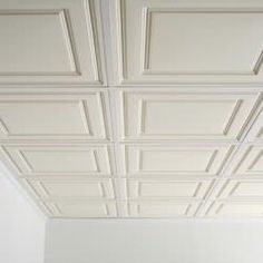 Better looking dropped ceiling for the basement. Hmm.