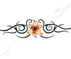 Flower and Tribal Armband Tattoo Design Girl Arm Tattoos, Fake Tattoos, Music Tattoos, Feather Tattoos, Tatoos, Temporary Tattoos, Henna Tattoos, Tribal Armband Tattoo, Armband Tattoo Design