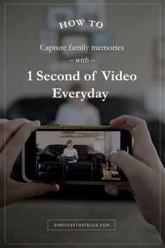 1 Second Everyday Video Project – Capture magical, everyday family memories with 1 second of video everyday! It really is the little things that matter most. Dslr Photography Tips, Photography Tips For Beginners, Photography Projects, Family Photography, Video Project, Bonding Activities, Family Photo Sessions, Family Photos, Strong Family