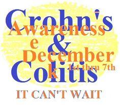 Crohn's and Colitis Awareness week December Awareness Month, Ulcerative Colitis, Crohns, Losing Me, Drugs, The Cure, Crohn's Disease, December 1st, Link
