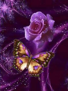animated glitter butterflies | glitter | Pinterest | Butterflies, Roses and Image Com