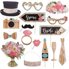 Products Floral & Lace Rustic Wedding Photo Booth Props Wedding Planning Exposed: The Best Man' Rustic Wedding Photos, Rustic Wedding Favors, Wedding Decorations, Floral Wedding, Wedding Day, Floral Lace, Wedding Signs, Wedding Reception, Wedding Lunch