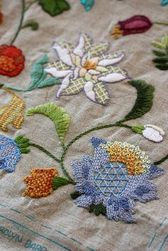 ♒ Enchanting Embroidery ♒  flowers