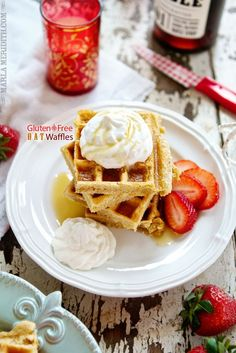Gluten-Free Oat Waffles: Nothing defines the weekend mornings more for us than a wonderful homemade breakfast. Slower paced mornings mean some time in the kitchen for recipes like these Gluten Free Oat Waffles. You can make these waffles ahead of time so you can enjoy them during the week!