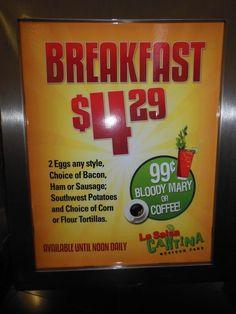 One of the best breakfast deals on the Las Vegas Strip