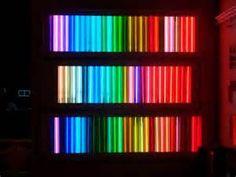 Neon book shelf