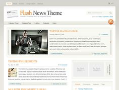 Flash News is a firm favourite amongst our users and it is easy to see why… Using a beautiful, clean rounded corner layout this theme incorporates all the best blogging features. And its unique colour scheme picker allows you to mix & match the colours until you are perfectly happy!