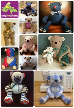Sewing Teddy Bear How to sew my non-jointed fleece teddy bear - Izzy Insomniac Teddy Bear Patterns Free, Teddy Bear Sewing Pattern, Easy Sewing Projects, Sewing Crafts, Custom Teddy Bear, Antique Teddy Bears, Memory Crafts, Memory Pillows, Cute Teddy Bears