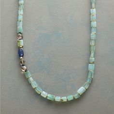 """JOURNEY TO PERU NECKLACE--Kyanite, smoky quartz and London blue topaz convene, perfectly at home among the exotic beauty of Peruvian opals. Handcrafted Sundance exclusive with 14kt gold filled hook clasp. Approx. 20""""L."""