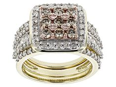 White Diamond 10k Yellow Gold Ring 2.00ctw - RGD022   JTV.com Diamond Rings For Sale, White Diamond Ring, Champagne Diamond, Diamond Gemstone, Yellow Gold Rings, Diamond Jewelry, Diamond Design, Colored Diamonds, Wedding Rings