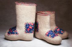 handmade valenki felt boots