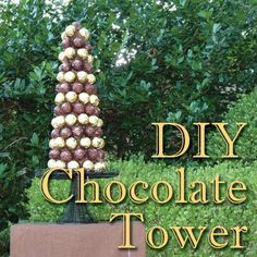 DIY Chocolate Tower Party Centerpiece: How-To Instructions | Belly Feathers :: Handmade Party Ideas Blog by Betsy Pruitt