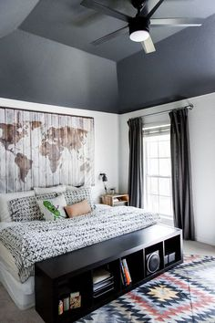 The Teenager's Room Reveal http://hisugarplum.com/teenage-boy-room/