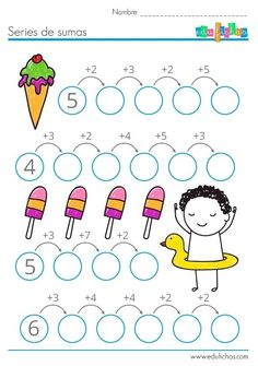 Interactive worksheets maker for all languages and subjects Kindergarten Math Worksheets, Worksheets For Kids, Teaching Math, Preschool Activities, Math School, Primary Maths, 1st Grade Math, Math For Kids, Kids Education