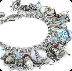 Nautical Jewelry - Compass Jewelry - Lighthouse Jewelry - Sailboat - Anchor Charm