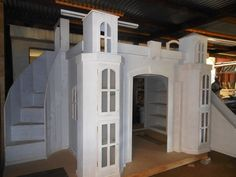 Benny's Creative Woodworkz Castle Bed (in primer only)