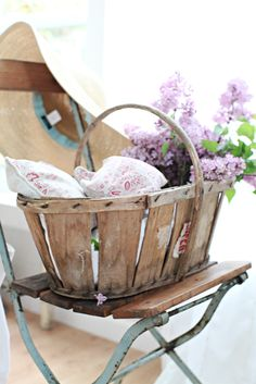 ~ revive a tired basket for use outdoors ~