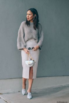 The LookSweater: Designers RemixSkirt: By JohnnyShoes: Marc FisherSunnies: Westward LeaningBag: YSL (in gold)FOLLOW ME    Instagram: @TayeHansberry Twitter: @TayeHansberry  Pintrest: @TayeH