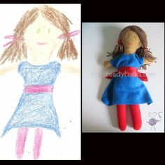 Review & Giveaway: Doodle Hugs (turn your child's drawing into a custom toy)  Giveaway open to US and Canada. Ends 2/10/13