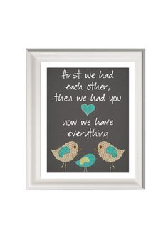 Birds nursery art printchildren's artFirst by PinkMilkshakeDesigns, £10.95