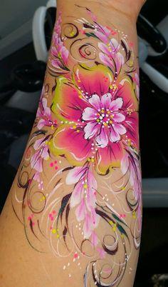 flower with swirls