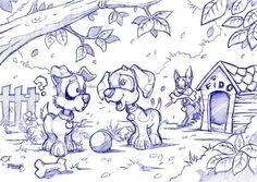 Cute Dog Sketches by Craig Bruyn, via Behance