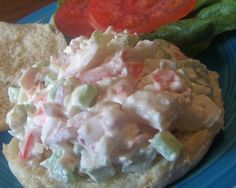 This recipe uses those fake crabmeat  sealegs  you find in the grocery store. I can hear the purists out there groaning already. Fake crab is actually made with real fish, but seasoned to taste like crab. My daughter has a particular fondness for sealegs, and this is one of my favorite ways of preparing it for her. I dont think fake crab tastes much like real crab at all and highly recommend you do give real crab a try sometime. But for those times when you dont have any real crab, why not…