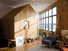 Artists create a tiny house in a loft