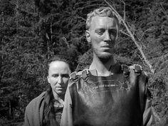 Max von Sydow and Birgitta Valberg in 'Jungfrukallen' by Ingmar Bergman