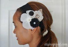 #DIY Fabric Flower Barrette - follow the #tutorial