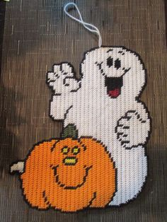 GHOST AND PUMPKIN - RE DRAWN FOR PC by MICHAEL KRAMER 1/2 (COMPLETED PROJECT SEWN by TIANA ROSEN)
