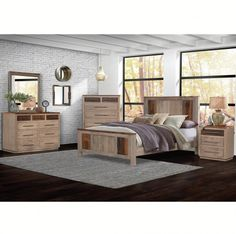 ⚜️Strada Amish Bedroom Furniture ⚜️ Decorate your bedroom in modern style with this bedroom furniture set. Shown with optional barn board tops and top drawer fronts, plus barn board inlays in the Amish headboard, this contemporary bedroom furniture offers the latest trends fused with rustic style design elements. #amish #amishfurniture #bedroomsets #contemporaryfurniture #bedroomideas