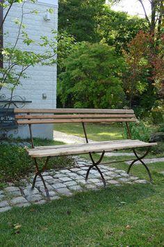 アンティーク フォールディングウッドベンチ French vintage wooden bench