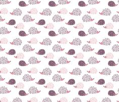 Scandinavian sweet hedgehog illustration for kids girls pink fabric by littlesmilemakers on Spoonflower - custom fabric