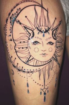 36 Stunning Women Tigh Tattoo Design Ideas - Women tattoos were at one point in history thought of as an awful thing and were not acknowledged in the circles of society back then. Tattoos have de. Hip Thigh Tattoos, Floral Thigh Tattoos, Thigh Tattoo Designs, Hip Tattoos Women, Dream Tattoos, Cute Tattoos, Body Art Tattoos, Girl Tattoos, Tatoos