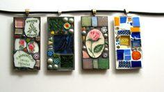 shabby chic mosaic pendants