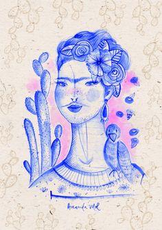 Gravura A4 - Frida