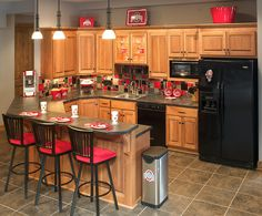 Ohio State themed basement kitchen or regular kitchen, it's your call.  LOL
