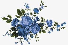 New Flowers Pattern Vector Blue Ideas Rose Flower Png, Flower Art, Arte Floral, Vintage Flowers, Blue Flowers, Blue Peonies, Flower Bouquet Drawing, Blue Flower Wallpaper, Decoupage Printables