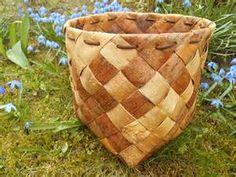Swedish birch bark basket Oversized birch bark by TasteVintage