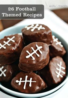 Are you ready for some football? Get Inspired this season with these football shaped foods!