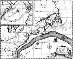 Large, easy-to-view image of Franklin's first chart of the Gulf Stream