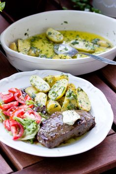 Parmesan-Kräuter Kartoffeln, eine tolle Beilage zum Grillen - Sasibella