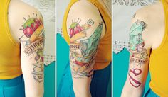 """Happiness is handmade."" Love this craft-inspired tattoo! #tattoo #craftytattoos #craftyink"