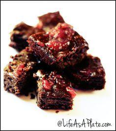 Paleo Dark Chocolate Cherry Chunk Brownies. Torturing myself on Day 2 of the 21 Day Sugar Detox.