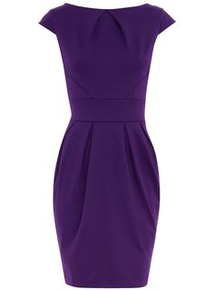 Petite purple ponte dress - View All - Dresses - Dorothy Perkins United States